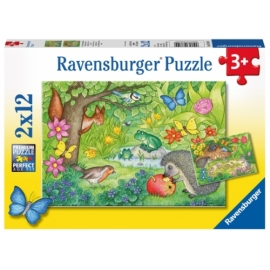Ravensburger 076109  Puzzle Tiere im Garten 2x12 Teile