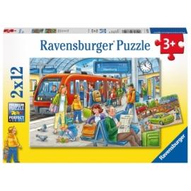 Ravensburger 076114 Puzzle Eisenbahn 2x12 Teile