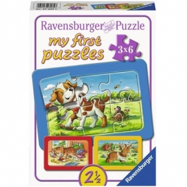 Ravensburger Puzzle - my First Puzzle - Meine Tierfreunde, 6 Teile