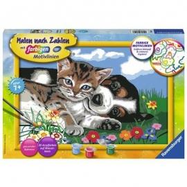 Ravensburger Spiel - Malen nach Zahlen - Tierfreundschaft