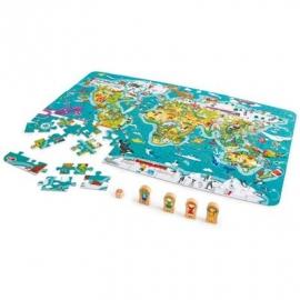 Hape - 2-in-1-Weltreise Puzzle und Spiel