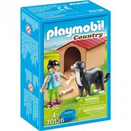PLAYMOBIL 70136 - Country - Hofhund mit Hütte