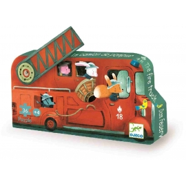 Djeco - (N) Formenpuzzle: The fire truck - 16pcs