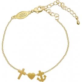 Armband Glaube-Liebe-Hoffnung (vergoldet)