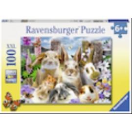 Ravensburger 109494 Puzzle Hasen-Selfie 100 Teile XXL