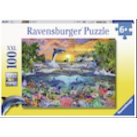 Ravensburger 109500 Puzzle Tropisches Paradies 100 Teile XXL
