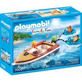PLAYMOBIL 70091 - Family Fun - Sportboot mit Fun-Reifen