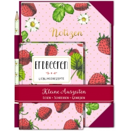 Kleine Auszeiten: Erdbeeren (Geschenkset)