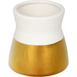 Kleine Porzellan-Vase gold, I love my Garden