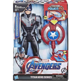 Hasbro - Avengers Titan Hero Captain America mit Power FX Pack