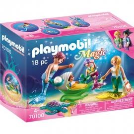 PLAYMOBIL 70100 - Magic - Familie mit Muschelkinderwagen