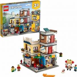 LEGO Creator - 31097 Stadthaus mit Zoohandlung & Café