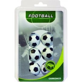 carromco Kickerbälle, 6 x schwarz-weiß im Blister