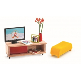 Djeco - Puppenhaus - The TV room