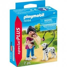 PLAYMOBIL 70154 - Special Plus - Mama mit Baby und Hund