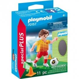 PLAYMOBIL 70157 - Special Plus - Fußballspieler mit Torwand