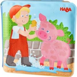 HABA® Badebuch Waschtag bei Schwein & Kuh