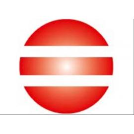 GoKi Clickhalbperle rot/weiß gestreift