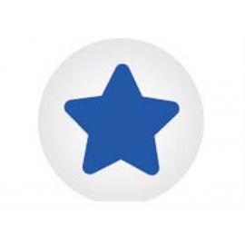 GoKi Clickhalbperle weiß mit blauen Stern