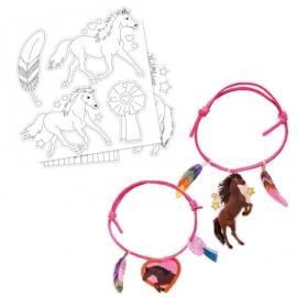 Schrumpffolien Armbänder-Set Pferdefreunde