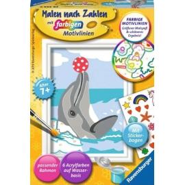 Ravensburger 284658 Malen nach Zahlen Delfin