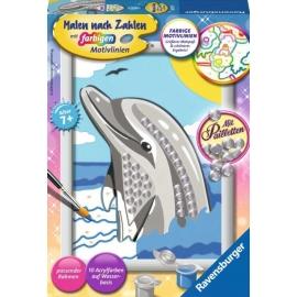 Ravensburger 284726 Malen nach Zahlen Delfin