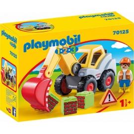 PLAYMOBIL 70125 - 1.2.3 - Schaufelbagger