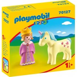 PLAYMOBIL 70127 - 1.2.3 - Prinzessin mit Einhorn