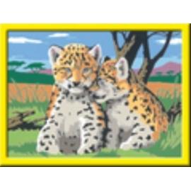 Ravensburger 284863 Malen nach Zahlen Kleine Leoparden