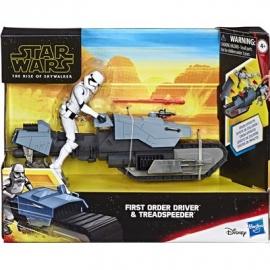 Hasbro - Star Wars™ - Galaxy of Adventures Erste Ordnung Fahrer und Treadspeeder 12,5 cm große Figur