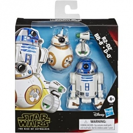 Hasbro - Star Wars™ - Galaxy of Adventures R2-D2, BB-8, D-O Action-Figur 3er-Pack, 12,5 cm große Dro