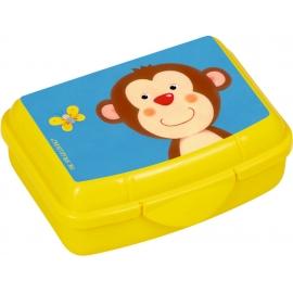 Die Spiegelburg - Freche Rasselbande Mini-Snackbox Affe, ca. 9,5 x 6,5 x 3,5 cm, Bisphenol A frei