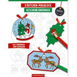 Kärtchen-Malblock Geschenkanhänger (Weihnachten) 100% selbst gemacht