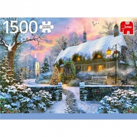Jumbo Spiele - Whitesmiths Cottage im Winter - 1500 Teile
