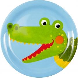 Die Spiegelburg - Freche Rasselbande Melamin-Teller Krokodil, _  ca. 17,5 cm, Bisphenol A frei