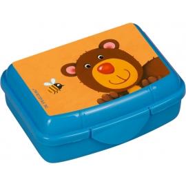 Die Spiegelburg - Freche Rasselbande Mini-Snackbox Bär, ca. 9,5 x 6,5 x 3,5 cm, Bisphenol A frei