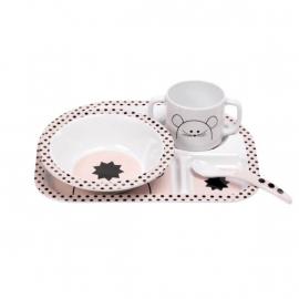 Lässig Dish Set Melamine Silicone Little Chums Mouse