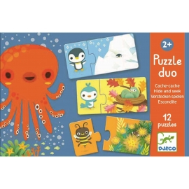 Djeco - Duo Puzzle: Hide & seek