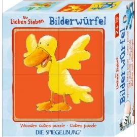 Die Spiegelburg - Die Lieben Sieben - Bilderwürfel, 4er Set