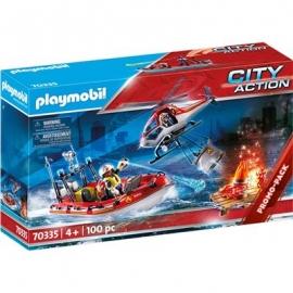 Playmobil® 70335 - City Action - Feuerwehreinsatz mit Heli und Boot