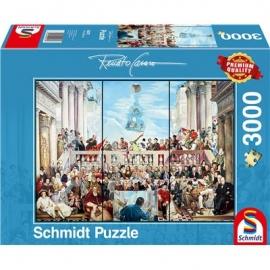 Schmidt Spiele - Puzzle - So vergeht der Rum der Welt, 3000 Teile