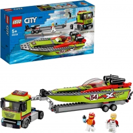 LEGO® City - 60254 Rennboot-Transporter