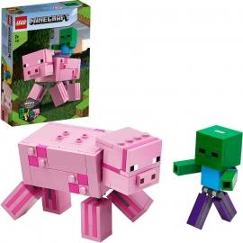 LEGO® Minecraft - 21157 BigFig Schwein mit Zombiebaby