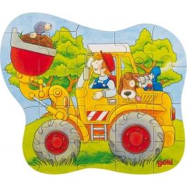 GoKi Konturpuzzle Traktor, Radlader, Feuerweh