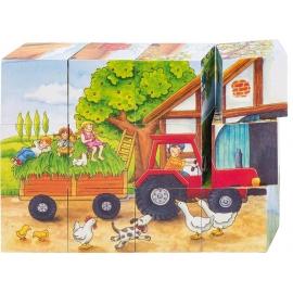 GoKi Würfelpuzzle Jahreszeiten auf dem Bauern