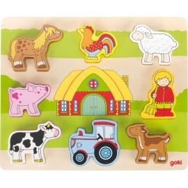GoKi Einlegepuzzle Auf unserem Bauernhof