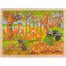 GoKi Einlegepuzzle Tierkinder im Wald