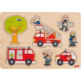 GoKi Steckpuzzle Feuerwehreinsatz