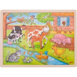GoKi Einlegepuzzle Leben auf dem Bauernhof
