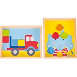 GoKi Geduldspiele Elefant und Lastwagen